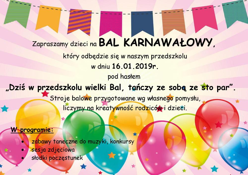 Bal Karnawałowy !!!