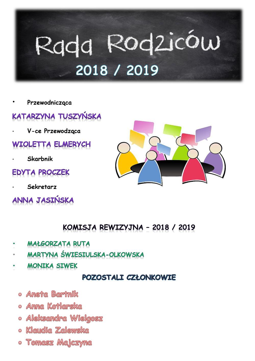 Rada Rodziców 2018/2019