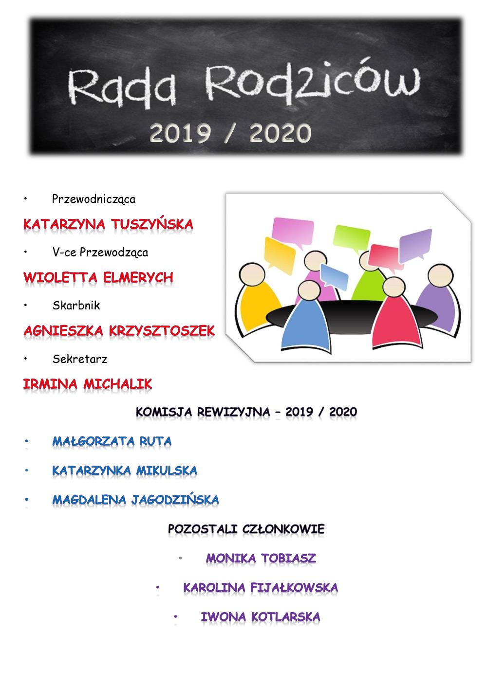 Rada rodziców 2019-2020