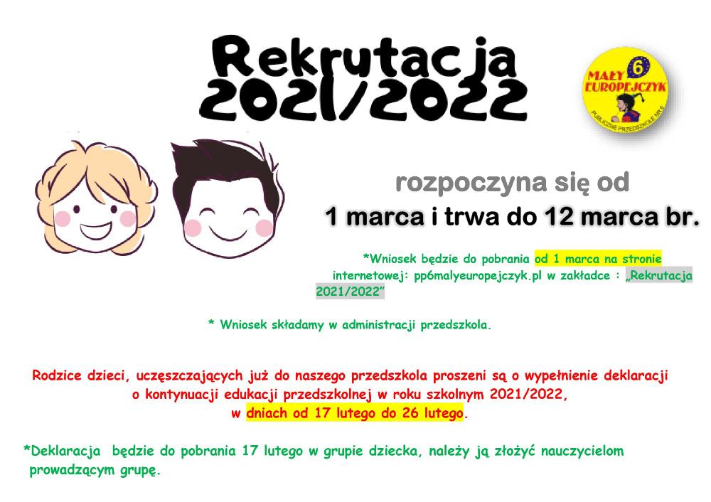 Rekrutacja 2021-2022 - Mały Europejczyk