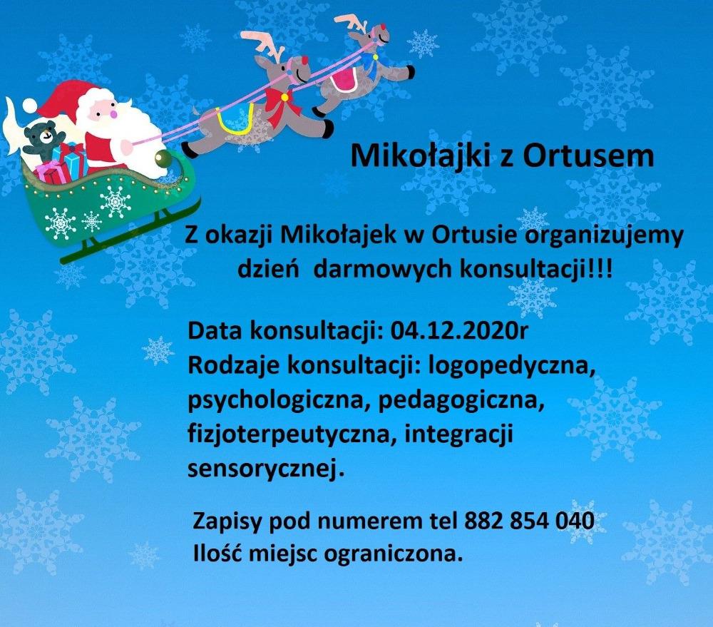 Mikołajki z Ortusem - zaproszenie